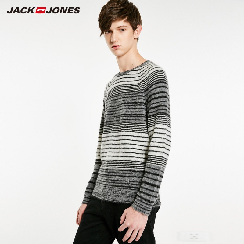 JackJones Men's Round Neck Stripe Long Sleeve Sweater Classic Style Menswear 218424517