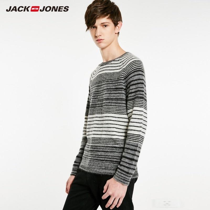 JackJones Men's Round Neck Stripe Long Sleeve Sweater Classic Style Menswear 218424517