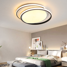 Modern Metal LED Ceiling Lights for Home Living room Bedroom Dimming with Remote Lustre Round lamp fixture AC90-265V