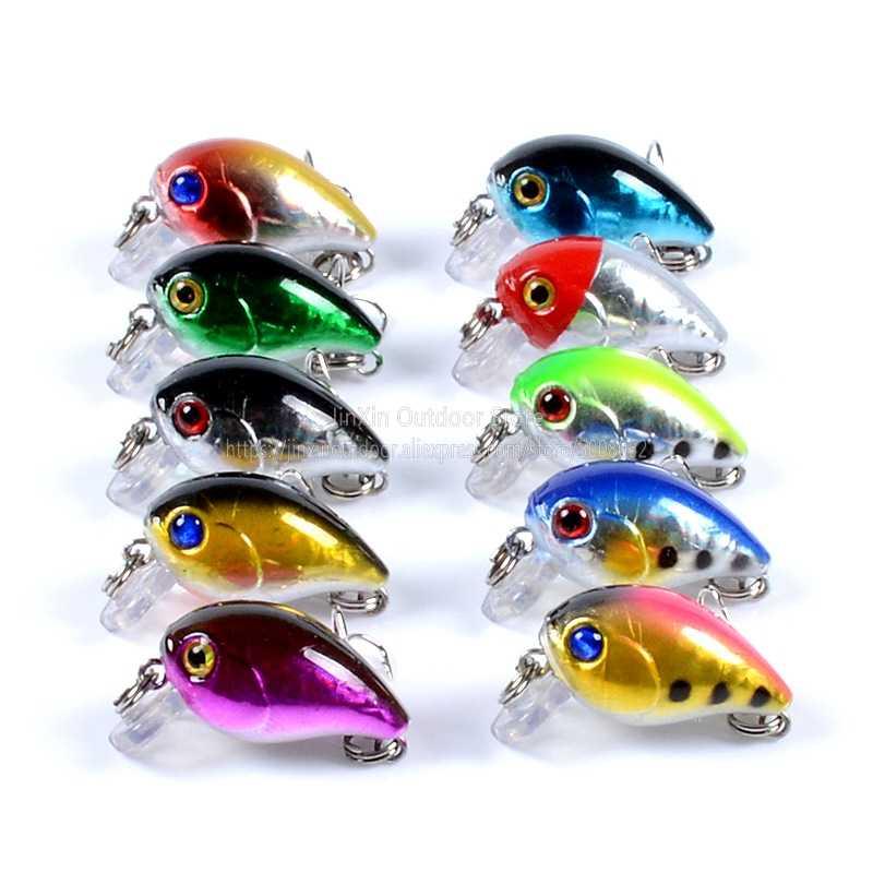 Gratis Pengiriman 3cm_3.1g Topwater Memancing Umpan Buatan Engkol Umpan Keras Ikan Kecil Mudah Shine Orang Yg Tak Dpt Dipercaya Ikan Perhiasan YU001