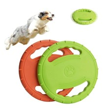 1PC Dog Flying Disc Interactive Rubber Toys Soft Floating Catcher Toy for Pet Training & Chewing