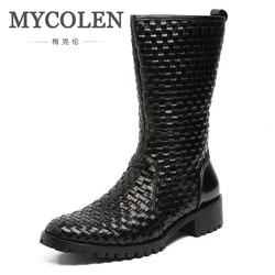 MYCOLEN Echtem Leder Taktische Militärische Stiefel Herren Outdoor Reitstiefel Schuhe Aus Echtem Leder Stiefeletten Coturnos Masculino