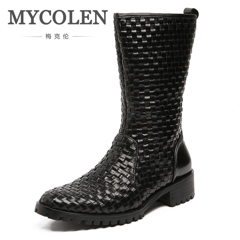 MYCOLEN Genuine Leather Tactical Military Boots Mens Outdoor Riding Boots Shoes Real Leather Ankle Boots Coturnos Masculino