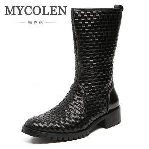 MYCOLEN Shoes Ankle-Boots Tactical Real-Leather Mens Outdoor Masculino Coturnos
