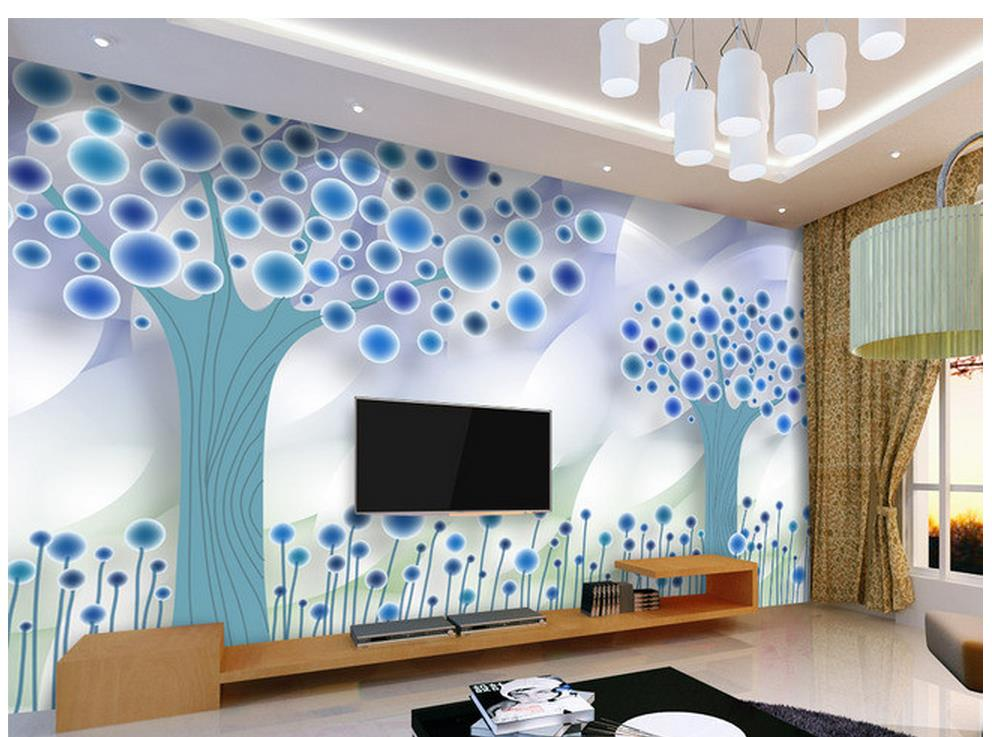 Abstract Tree Fashion European 3D TV Background Wall Painting Wallpaper 3d Murals Home Decoration
