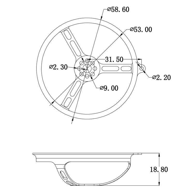 PG50 Aluminium 2 Inch Baling-Baling Penjaga 50 Mm Menyalurkan Alat Peraga Pelindung Guard untuk 1102/1103/1104/1105 Brushless Motor mini RACER Drone