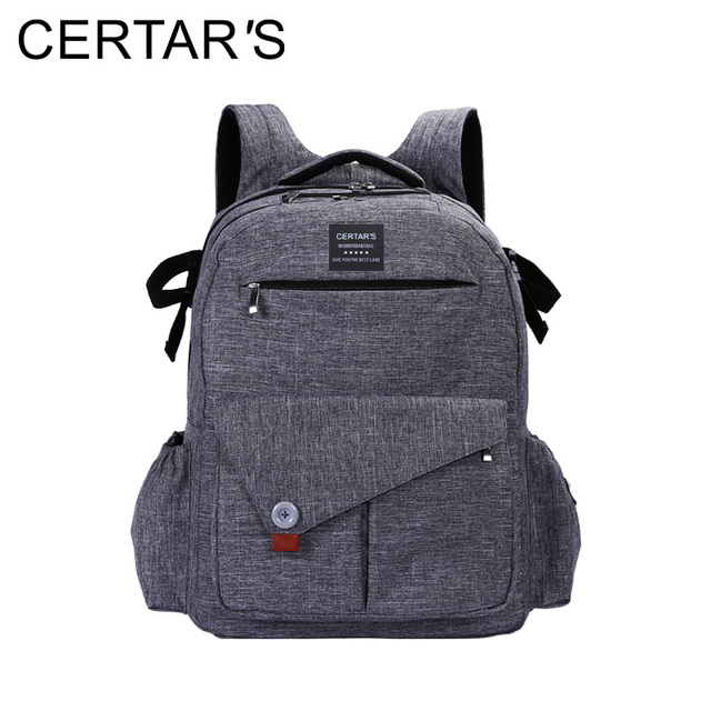 CERTAR'S Large Capacity Laptop Diaper Bag Backpack Baby Nappy Bags Stroller Pram Bags Cart Changing Maternity Shoulder Bolso