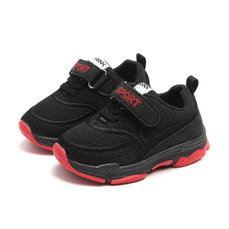 Unisex Children Casual Shoe Boys Girls Mesh Breathable Sport Shoes Black White Red Pink  ...