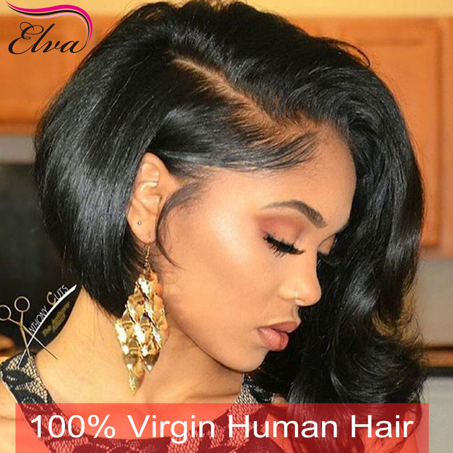 7a Full Lace Human Hair Wigs With Babyhair Human Hair Lace