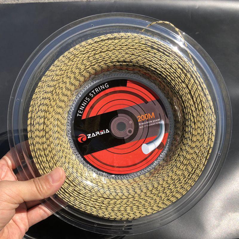 ZARSIA 200M Synthetic Flash Nylon Tennis String 16G/1.35mm High Elastic Tennis Rackets String Squash Strings Tennis Strings