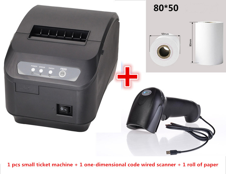 Gift 1Thermal Paper + 1Scanner + POS printer 80mm thermal receipt printer automatic cutting serial or Ethernet port 80mm thermal printer new upgrade quality hprt lpq80 printers pos printer barcode printer