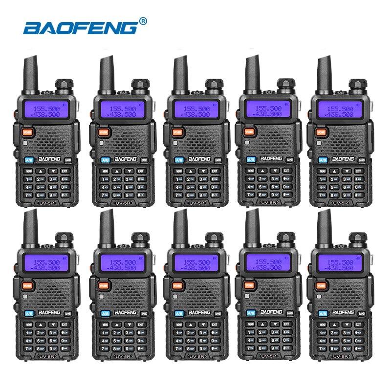 10pcs BAOFENG UV 5R Walkie Talkie Professional CB Radio UV5R Transceiver 128CH 5W VHF UHF