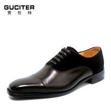 Italia GOODYEAR CRAFT 100% натуральной телячьей lether Для мужчин обувь ручной работы на шнуровке Для мужчин; торжественное платье Свадебные buessiness квадратный носок обуви