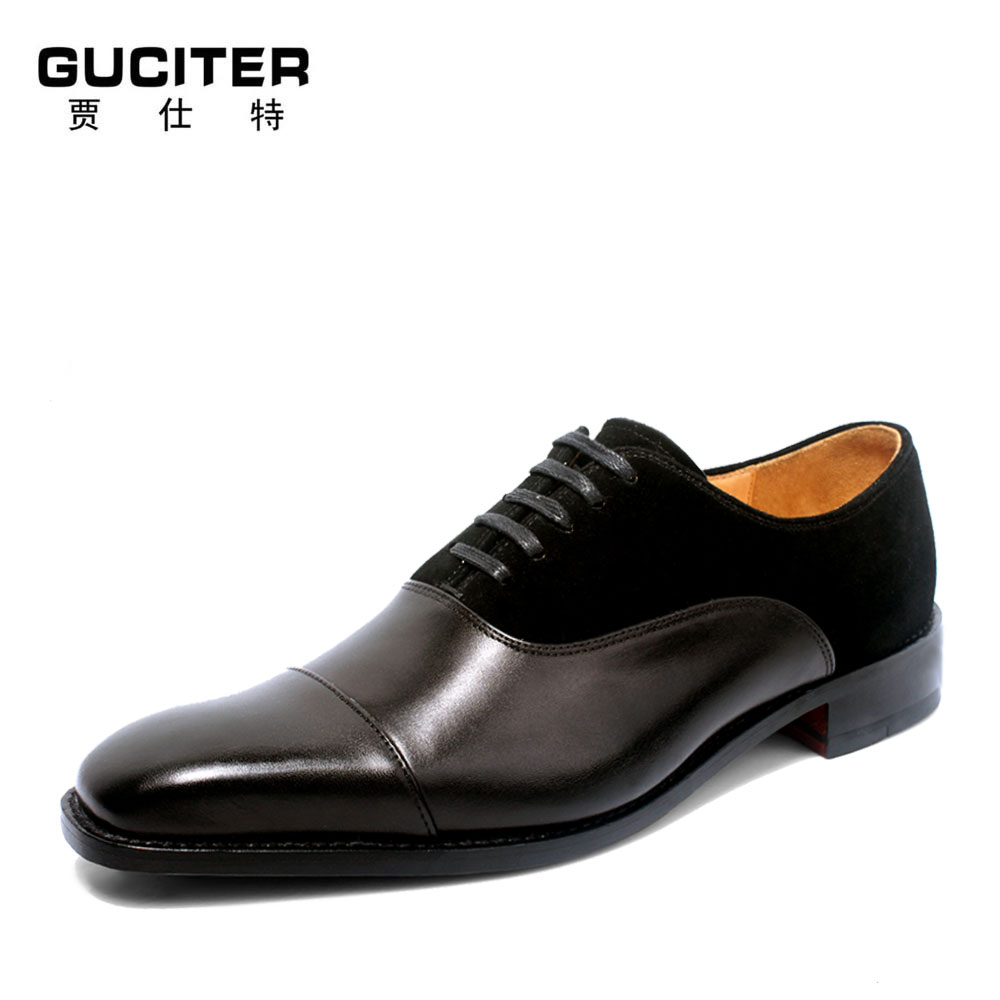 Italia Goodyear Craft Genuine Calf Leather men shoes Hand Made lace-up Men's Formal Dress Wedding buessiness dress leather Shoes skp151custom made goodyear 100% genuine leather handmade brogue shoes men s handcraft dress formal shoes large plus size
