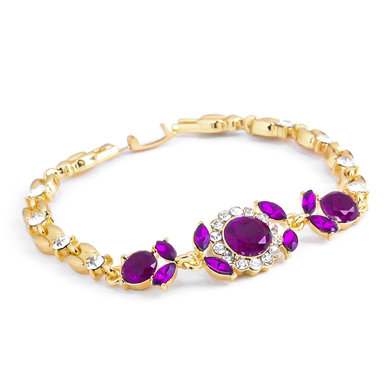 Atreus Jewelry Gift 2 Colors Gold Color Classic Australia Crystal/Rhinestone Cuff Chain infinity Bracelet For Women Girl 1
