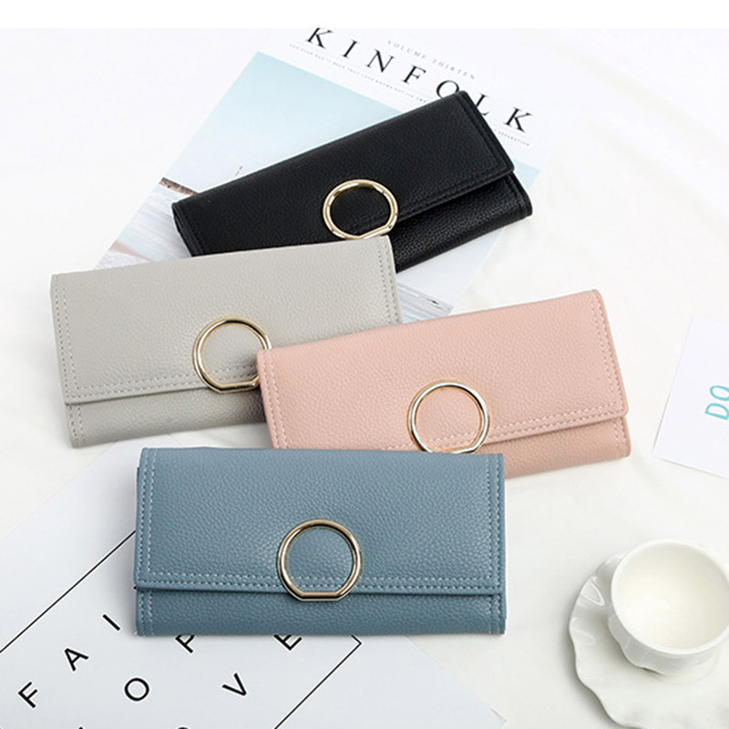 New Brand Wallet Women Wallet PU Leather Card Holder Long Coin Pocket Women Purses Female High Quality Phone Money Ladies Clutch brand wallet fashion women wallet double zipper female clutch purse froasted pu leather money case coin pocket card holder