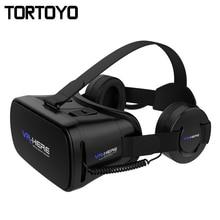 New VR HERE 3D VR Glasses Virtual Reality Glasses Head Mount Helmet VR with HIFI VR Headphone Headset For 4.0-6.0 inch Phone