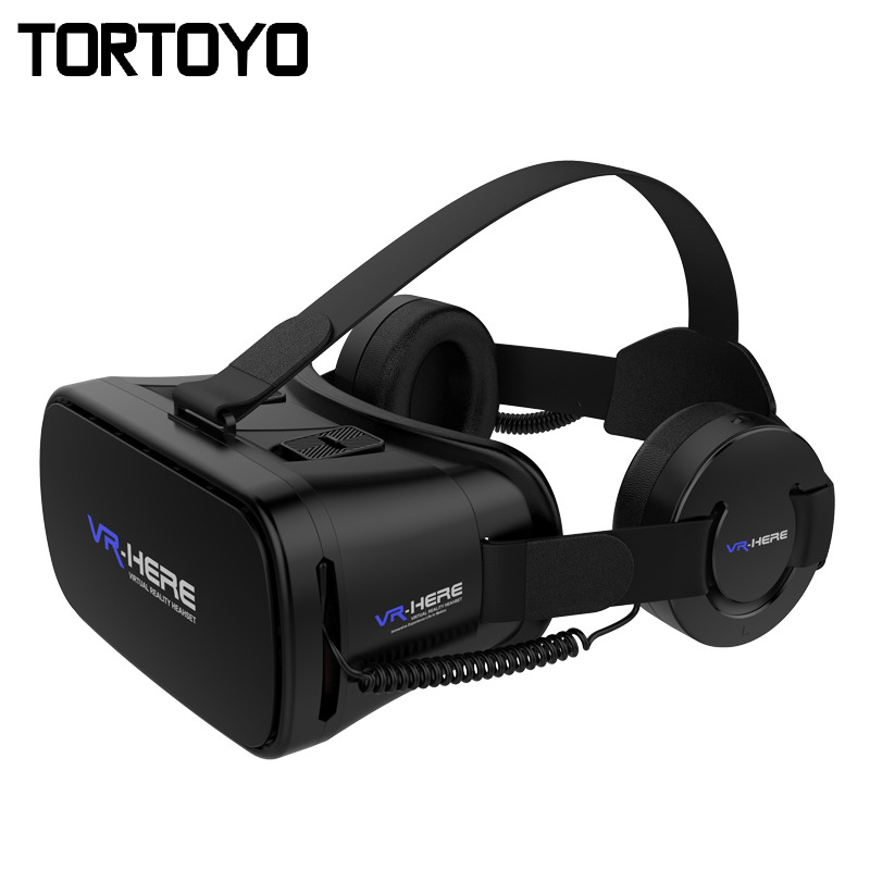 Nouveau VR ICI 3D VR Lunettes Lunettes de Réalité Virtuelle Tête Montage casque VR avec HIFI VR Casque Casque Pour 4.0-6.0 pouce Téléphone