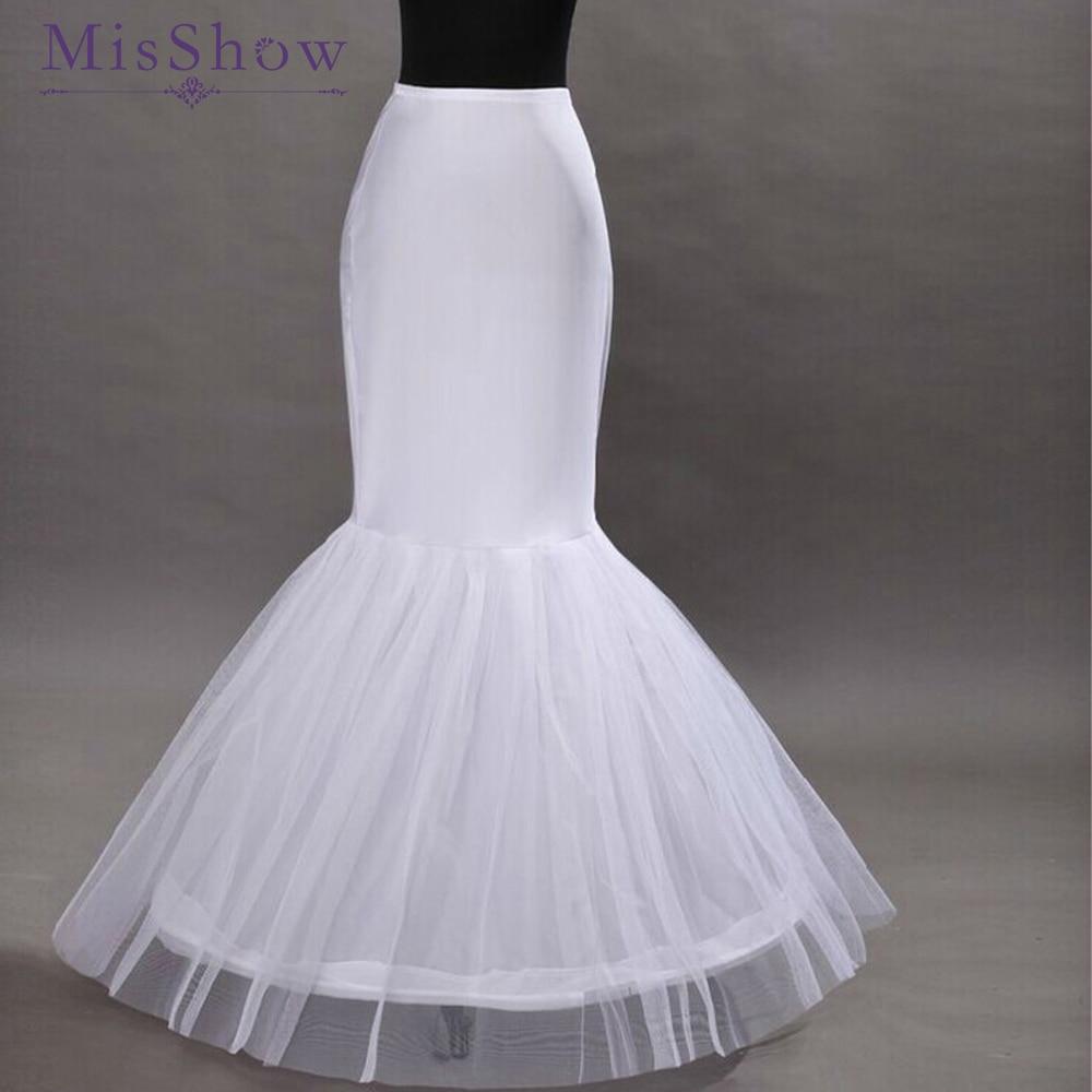2019 Hot Sale Wedding Petticoat Mermaid Petticoat Crinoline Adjustable Waist White Petticoat Mermaid Wedding Dress Underskirt