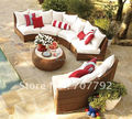 Venta caliente SG-12005A Urban sofá nuevo estilo de jardín, sofá sofá al aire libre, sofás de mimbre.
