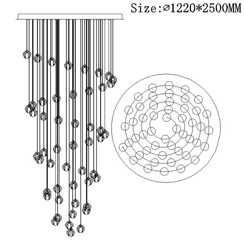 BOCHSBC K9 Crystal Chandeliers for Living Room Corridor-in Chandeliers from Lights & Lighting    1