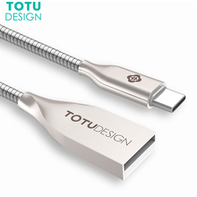 TOTU Type C USB Cable For Samsung S8 Plus Xiaomi Mi5 4C Huawei LG Fast Charging USB C Cable Data Cable USB Type-C Charger Cable
