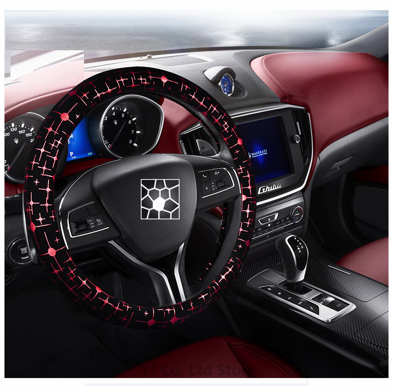 New Fashion Four Seasons 38cm Diameter car styling steering wheel car cover steering wheel cover