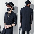 2017 Harajuku Luxury Brand Mens Dress See Through Shirts Striped Chiffon Long Sleeve Designer Black Lace Slim Fit Shirt Men