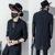 2017 Harajuku Marca De Lujo Para Hombre Vestido de Ver A Través de Camisas de Gasa Rayada Diseñador de Manga Larga de Encaje Negro Slim Fit Camisa de Los Hombres