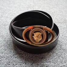 Genuine Leather Belt Business Men Belt Steel buckle belt Fashionable leisure hash leather belt fashionable skull and letter shape embellished belt buckle for men