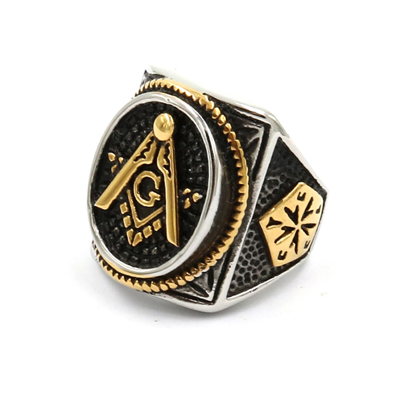 Gold And White Vintage Crystal Masonic Gold Color