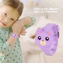 3D мультфильм модные часы спортивные наручные часы цифровой лоскут для детей мальчиков и девочек ребенок животное силиконовые часы светодиодный подарок 35