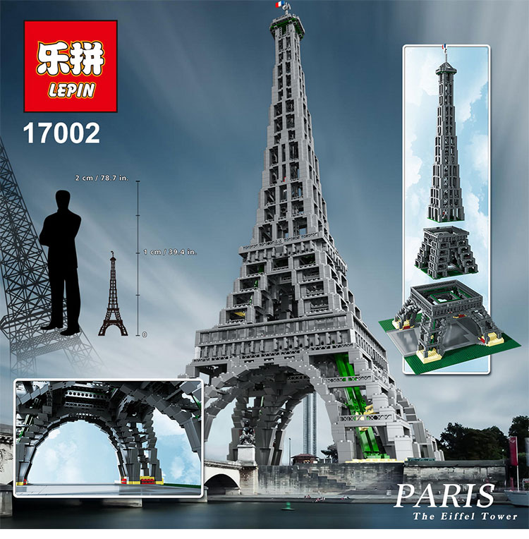 IN STOCK 2018 New LEPIN 17002 City Street The Eiffel Tower Model Building Blocks Brick Children Toys Compatible legoinglys 10181