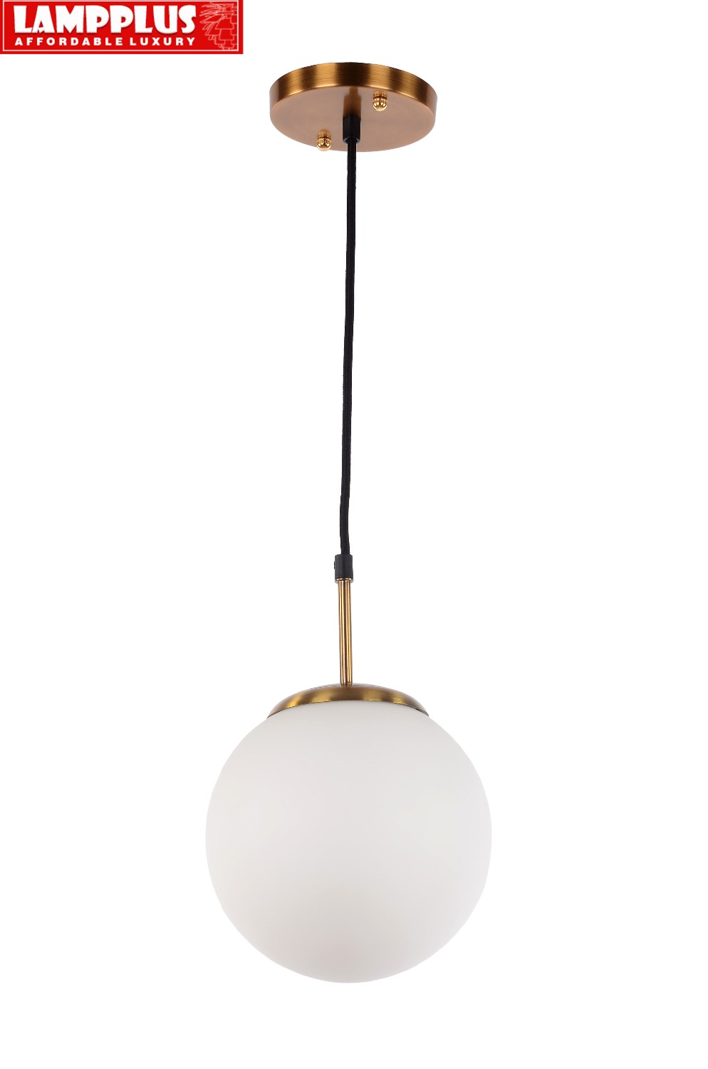 Lampplus Modern Simple Golden color Frosted glass ball lampshade Pendant light Droplight Ceiling lamp for bedroom living room