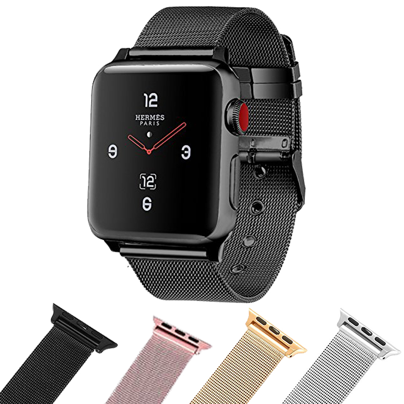 New Milanese Loop Iwatch Band With Classic Buckle Gorgeous Apple Watch Accessories for Apple Watch Series