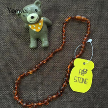 Yoowei Wholesale Original Amber Necklace for Kids Adult Natural Beads Baby Amber Teething Necklace Baltic Amber Jewelry 10 Color