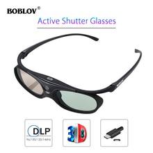 BOBLOV 3D Active Shutter Glass For All DLP Projector 96Hz/14
