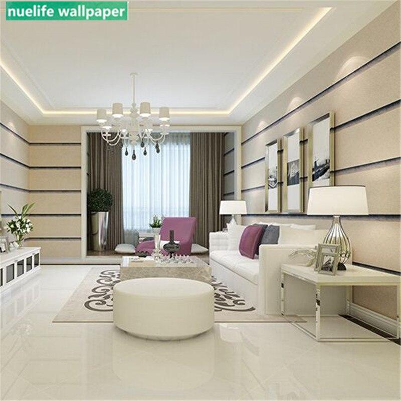 0.53x10m Modern Horizontal Stripe Pattern Wallpaper Bedroom Shop Living Room Office TV Background Wall Video Wall Paper