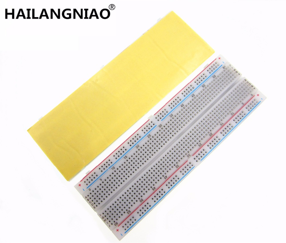 Breadboard 830 Point Solderless PCB Bread Board MB-102 MB102 Test Develop DIY new originali zy 25 diy solderless assembled 25 hole mini bread board test board multi colored 1 set