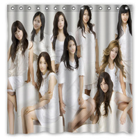 Girls' Generation Decorative Shower Curtain Waterproof Polyester Fabric Bathroom Curtains Bath Screens 71*71 inch