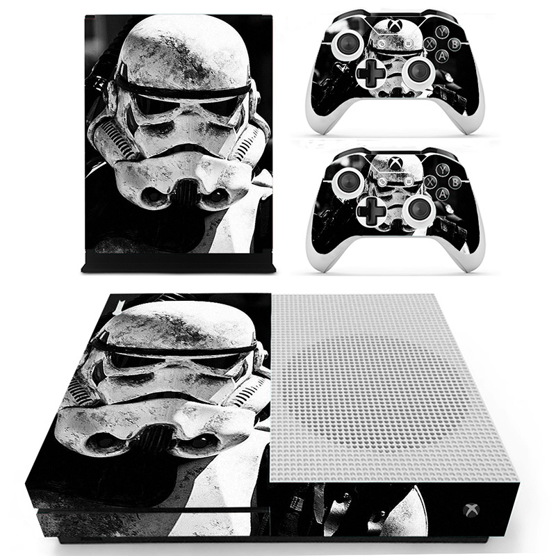 Homereally sticker for xbox one s classic star war custom hd pvc skin cover for xbox one slim console and 2 controller accessory in stickers from consumer