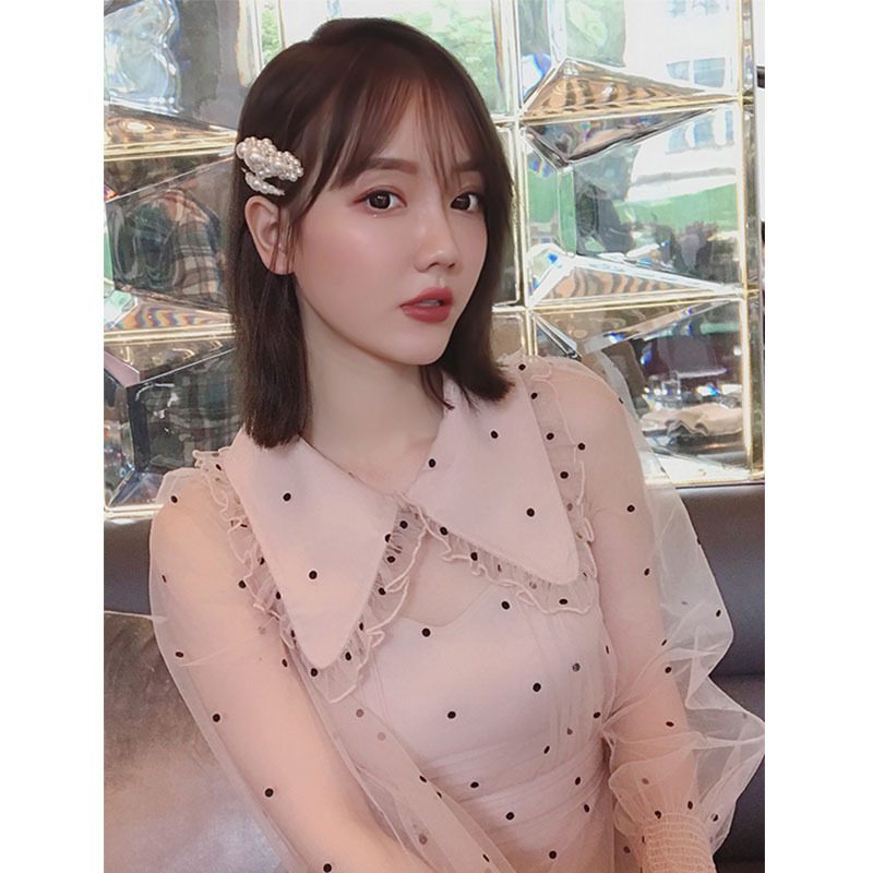 Doll Fashion Minority Love First Female French Dresses Collar And Point Korean Temperament New Autumn Winter Edition 4ZxqzY1qwA