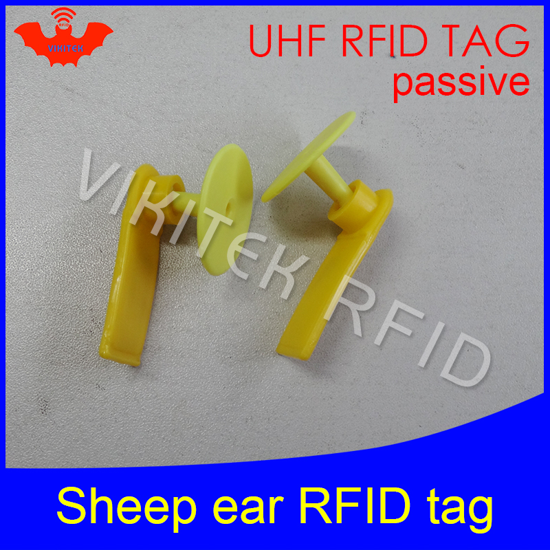 UHF tags RFID electronic animal ear tag for livestock identification EPC gen2 ISO18000-6C 915m 860MHz-960MHz rfid sheep ear tag x10pcs rfid ear tag iso 11784 5 hdx electronic ear mark for pig cow sheep etc