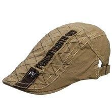 HUOBAO Mens  Letter Embroidery Newsboy Hat Vintage Gorras Casquette Hats For Women Unisex Beret Cap Cabbie