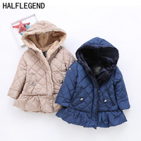 Children's Parkas Winter jackets for girls Outerwear for baby girls 2 3 4years Coat for girls warm clothes for kids 7 8 9years