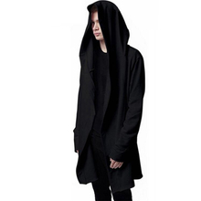New Autumn Fashion Hip Hop Mantle Hoodies Sweatshirts Men Women Black Gown Jacket Long Sleeve Cloak Men's Coats Outwear Moletom