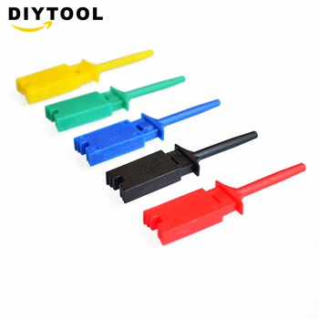 5 Pcs Mini Grabber Test Probe Hook For SMD IC Test Cilps SMD IC Hook Probe Jumper Test Clip Mini Grabber For Multimeter promotion multimeter part colorful electrical testing hook clip grabber 8 pair