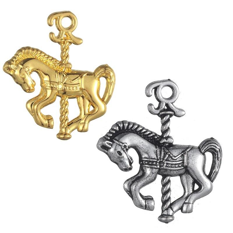 Skyrim Romantic Amusement Park Carousel Charms Polish Horse Pendants DIY  Animal Jewelry Accessories For Necklace&Bracelet 20Pcs