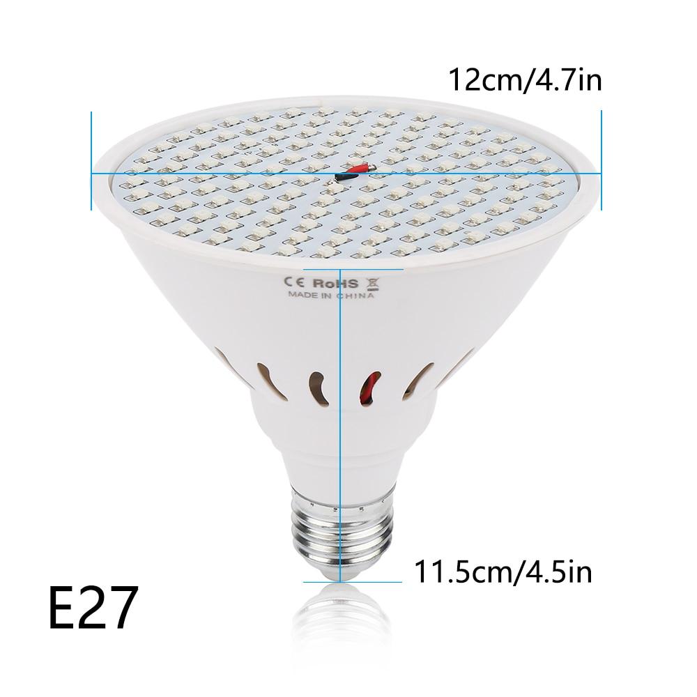 E27 LED Grow Light 10W 86Red: 20Bleue 15W 90Red: 36Blue Phytolamp for - Մասնագիտական լուսավորություն - Լուսանկար 3