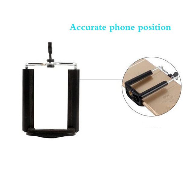 FGHGF Black Phone Holder Tripod for Phone Tripod Stand with 1/4 inch Nut Screw Hole Selfie Stick Phone Clip Accessories